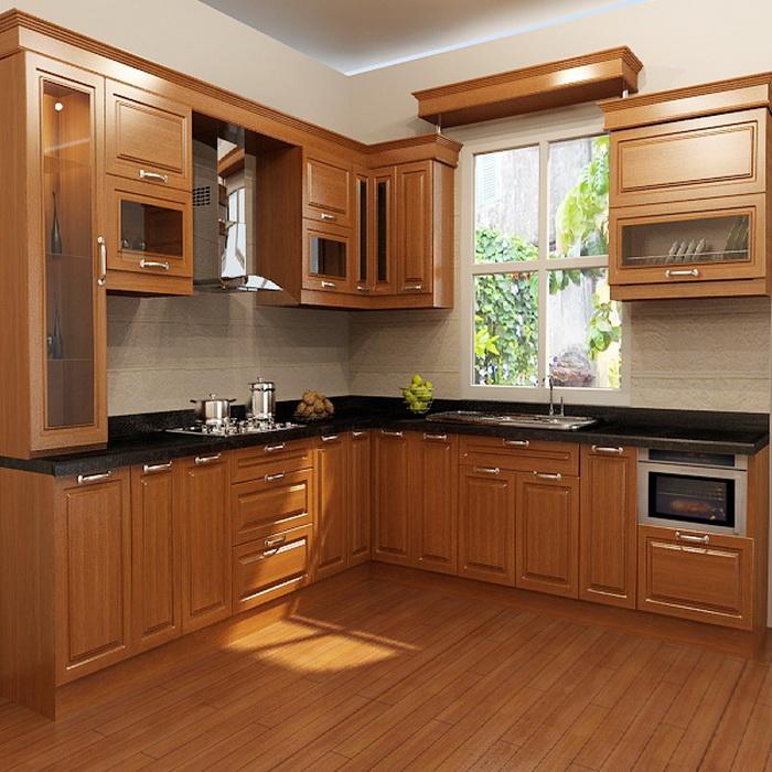 Tủ bếp HDF phủ Laminate cao cấp 3D TB047